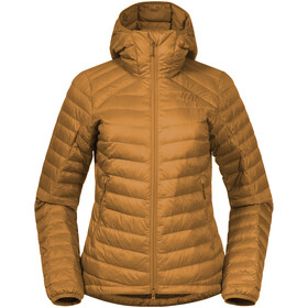 Bergans Røros Down Light Jacket with Hood Women light inca gold/inca gold